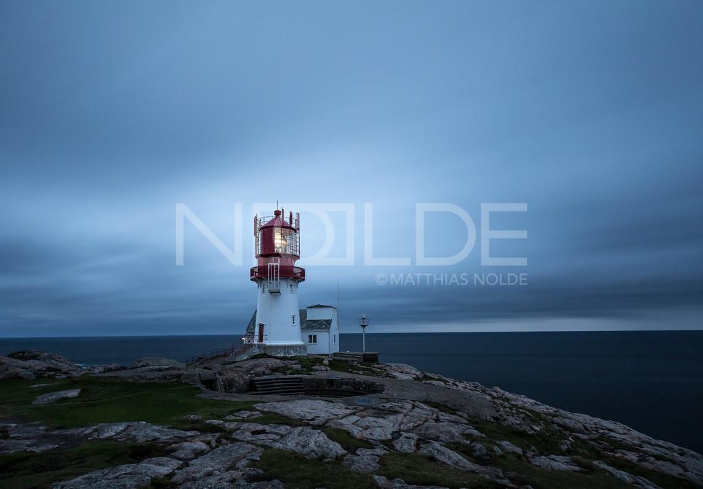 Leuchtturm Lindesnes Fyr | Leuchtturm Lindesnes Fyr in der blauen Stunde nach Sonnenuntergang