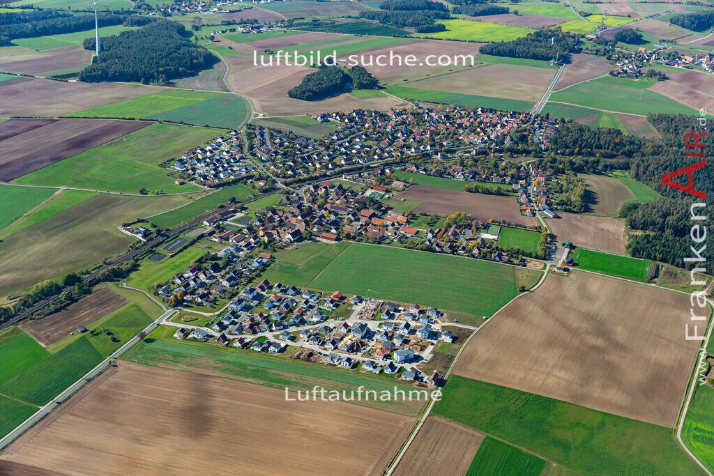 hagenbuechach-19-850 | aktuelles Luftbild von  Hagenbuechach - Luftaufnahme wurde 2019 von https://frankenair.de mittels Flugzeug (keine Drohne) erstellt.