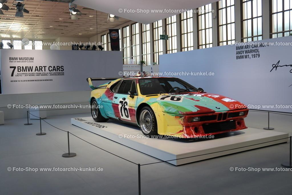 BMW M1 Coupé, BMW Art Car No. 4 Andy Warhol, 1979   BMW M1 Coupé 2 Türen, Baujahr 1979, Typ E 26, Bauzeit des M1: 1978-81, Wagen-Nummer 76, BMW Art Car No. 4, mit künstlerischem Design von Andy Warhol, Hersteller: BMW, BRD