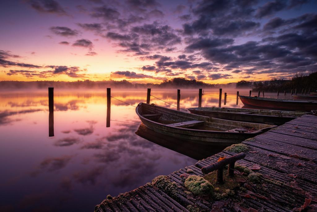 End of Season | Angelboote im Sonnenaufgang am Bossee