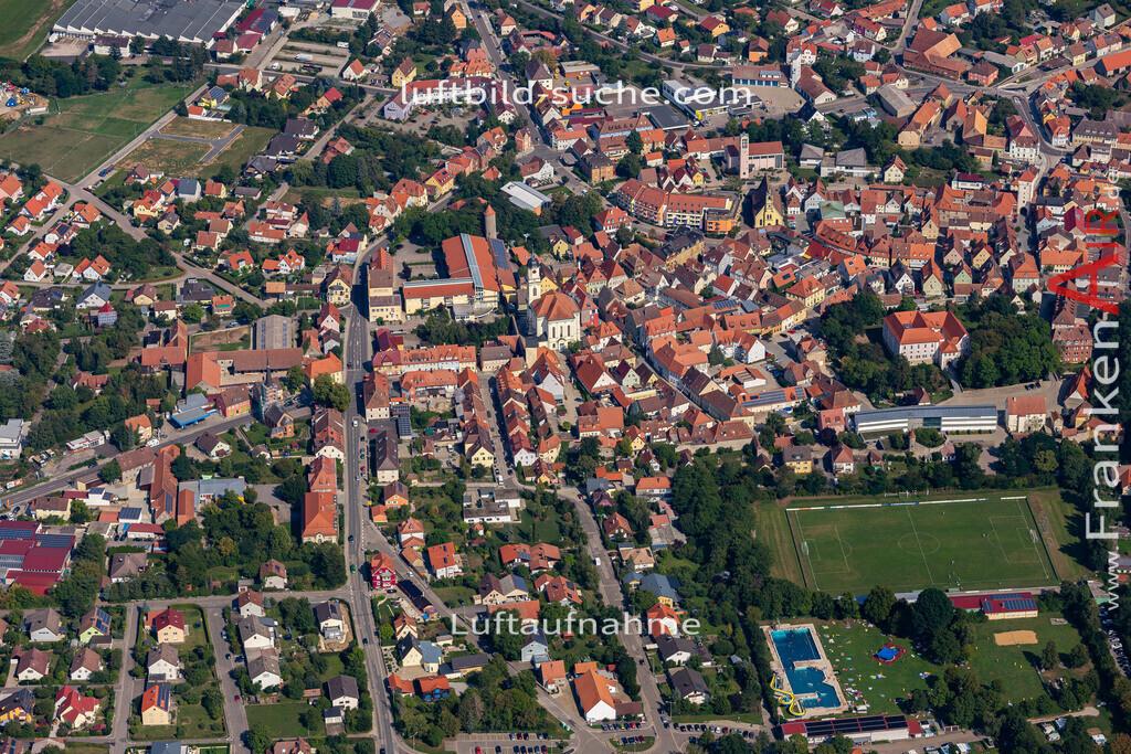 uffenheim-19-734   aktuelles Luftbild von  Uffenheim - Luftaufnahme wurde 2019 von https://frankenair.de mittels Flugzeug (keine Drohne) erstellt.