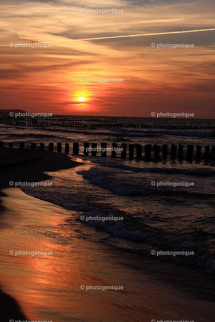 Sonnenuntergang am Meer | Sonnenuntergang an der Polnischen Ostsee bei Chalupy
