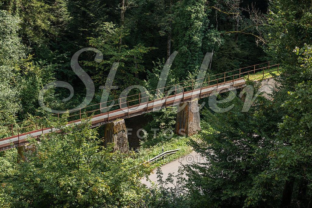 Rote Brücke, Bärschwil (SO) | Die Rote Brücke der ehemaligen Gipsbahn von Bärschwil im Kanton Solothurn.