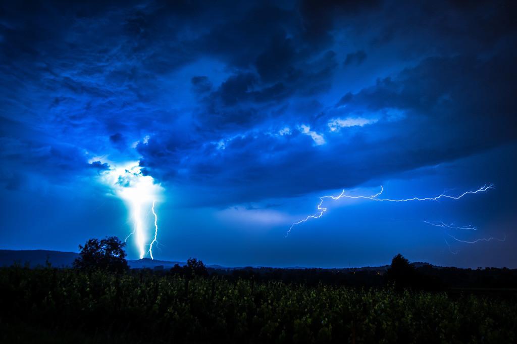 Gewitter   Gewittersturm über Südbaden