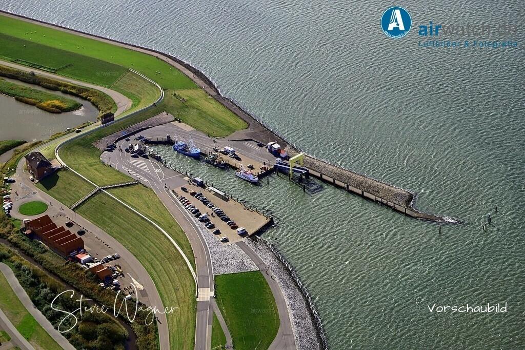 Luftbild Nordstrand, Hafen Strucklahnungshoern, Faehranleger   Nordsee, Nordstrand, Hafen Strucklahnungshoern • max. 6240 x 4160 pix - Luftbild, Luftaufnahme, aerophoto, Luftbildfotografie, Luftbilder