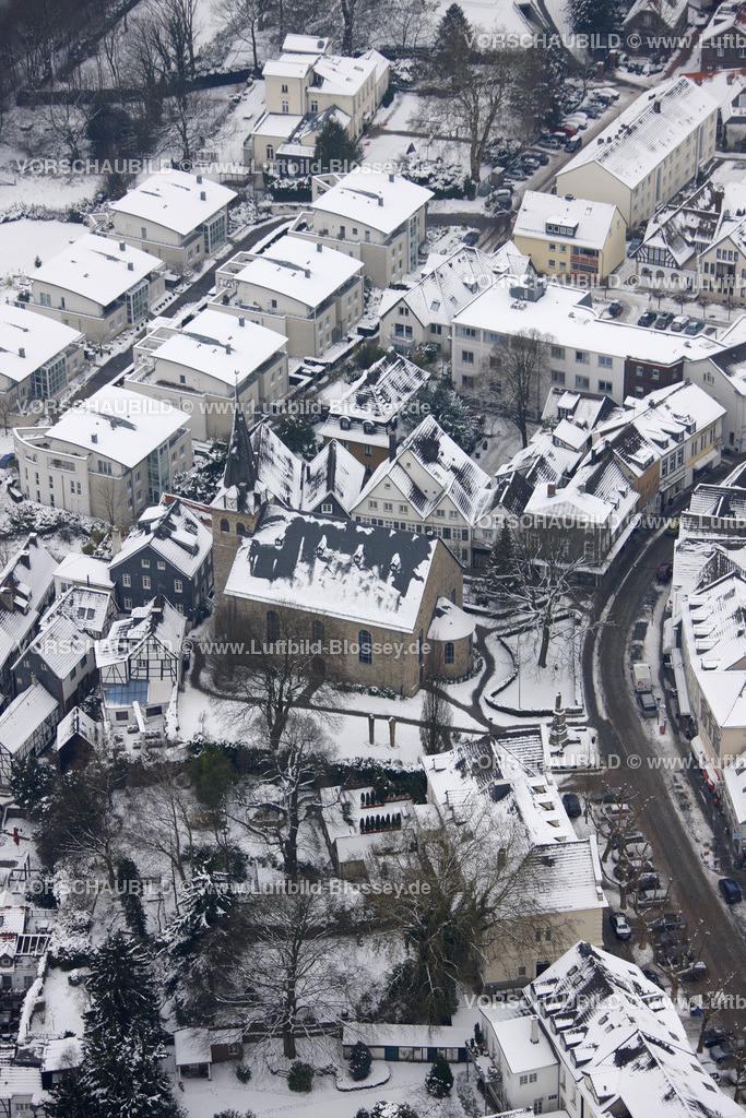 KT10011175   Schnee,  Kettwig, Essen, Ruhrgebiet, Nordrhein-Westfalen, Deutschland, Europa, Foto: Luftbild Hans Blossey, Copyright: hans@blossey.eu, 06.01.2010, E 006° 56' 30.53