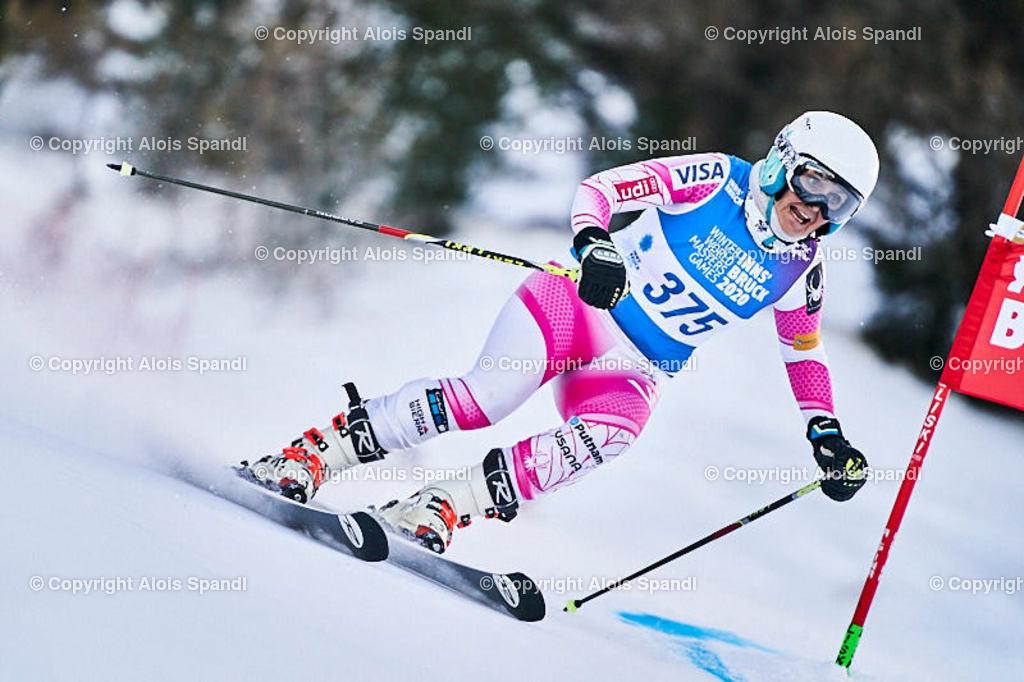 ALS5548_WWMG_GS-II_C | (C) FotoLois.com, Alois Spandl, WinterWorldMastersGames 2020 Innsbruck, Giant Slalom-II Gruppe C Damen, Patscherkofel Olympiaabfahrt, Mi 15. Jänner 2020.