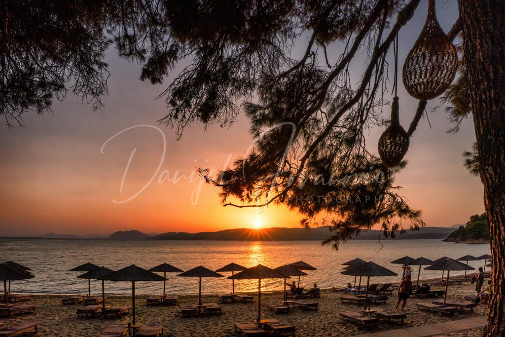 Sonnenuntergang | Sonnenuntergang am Agia Eleni Beach, Skiathos