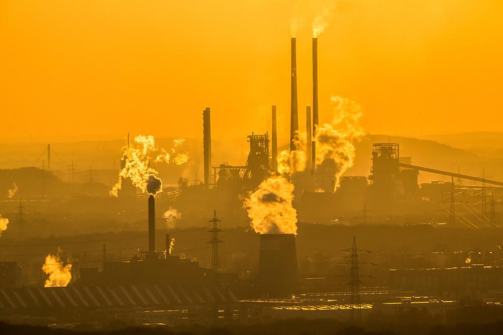 JT-160216-013 | Stahlstandort Duisburg, Kulisse der ThyssenKrupp Steel Stahlwerke, Hochöfen, in Duisburg Bruckhausen,