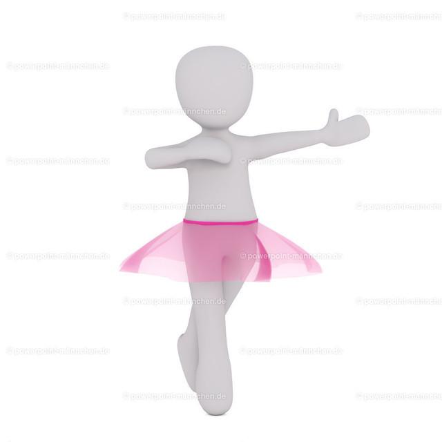 ballerina in pink skirt | Quelle: https://3dman.eu   Jetzt 250 Bilder kostenlos sichern