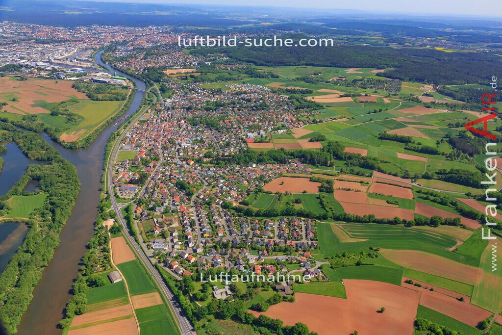 bischberg-18-328   aktuelles Luftbild von  Bischberg - Luftaufnahme wurde 2018 von https://frankenair.de mittels Flugzeug (keine Drohne) erstellt.