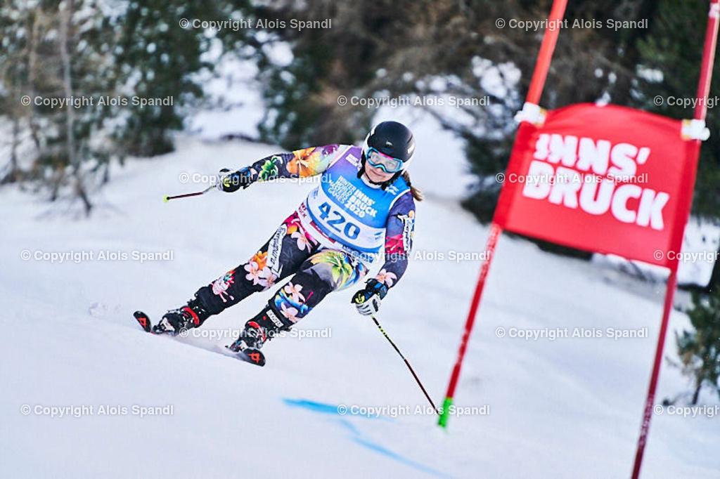 ALS5785_WWMG_GS-II_C | (C) FotoLois.com, Alois Spandl, WinterWorldMastersGames 2020 Innsbruck, Giant Slalom-II Gruppe C Damen, Patscherkofel Olympiaabfahrt, Mi 15. Jänner 2020.