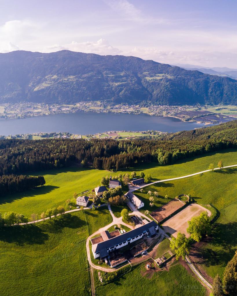 Ossiacher Tauern | Luftbild von den Ossiacher Tauern beim Ossiacher See / Villach mit Blick auf die Gerlitzen