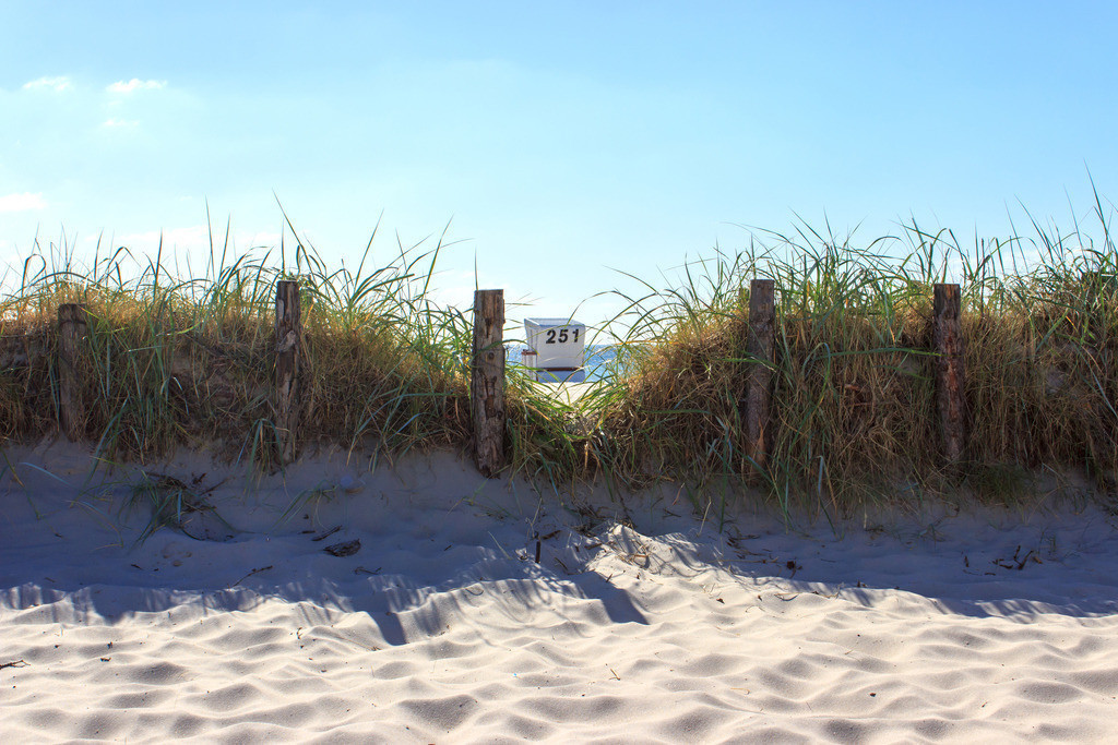 Strandkorb an der Ostsee   Strandkörbe am Strand in Damp
