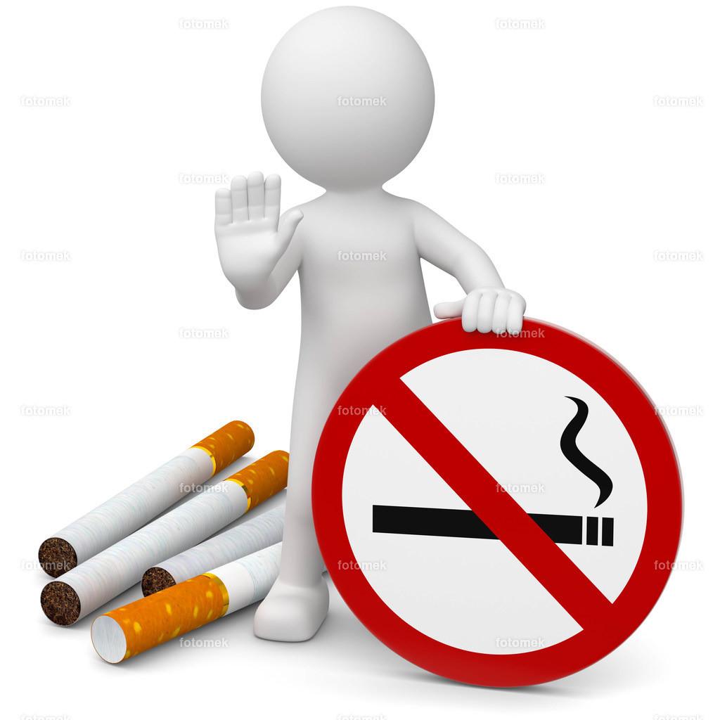 3d Männchen Rauchverbot Zigaretten   weisses 3D Männchen von Fotomek