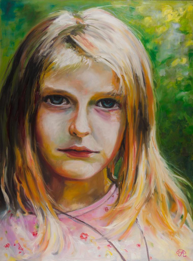 Trauriges Mädchen | Originalformat: 80x60cm  -  Produktionsjahr: 2009