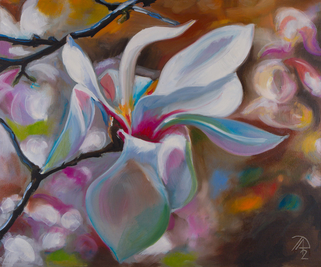 Magnolia | Originalformat: 50x60cm  -  Produktionsjahr: 2012