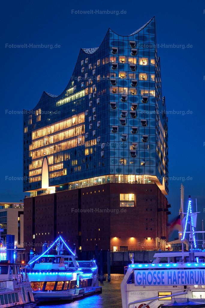10190506 - Elbphilharmonie bei Nacht | Wunderschöne nächtliche Lichterstimmung an der Elbphilharmonie.