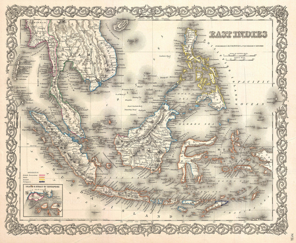 1855_Colton_Map_of_the_East_Indies_(Singapore__Thailand__Borneo__Malaysia)