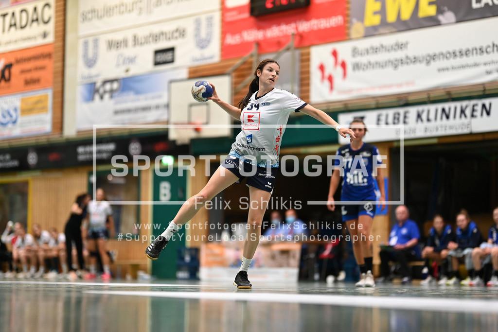 FZ6_9212 | Joanna Rode (#34, Neckarsulmer Sport-Union); 1. Bundesliga Frauen I 1. Spieltag I Buxtehuder SV - Neckarsulmer Sport-Union am 05.09.2020 in Buxtehude  (Sporthalle Kurt-Schuhmacher Strasse), Deutschland