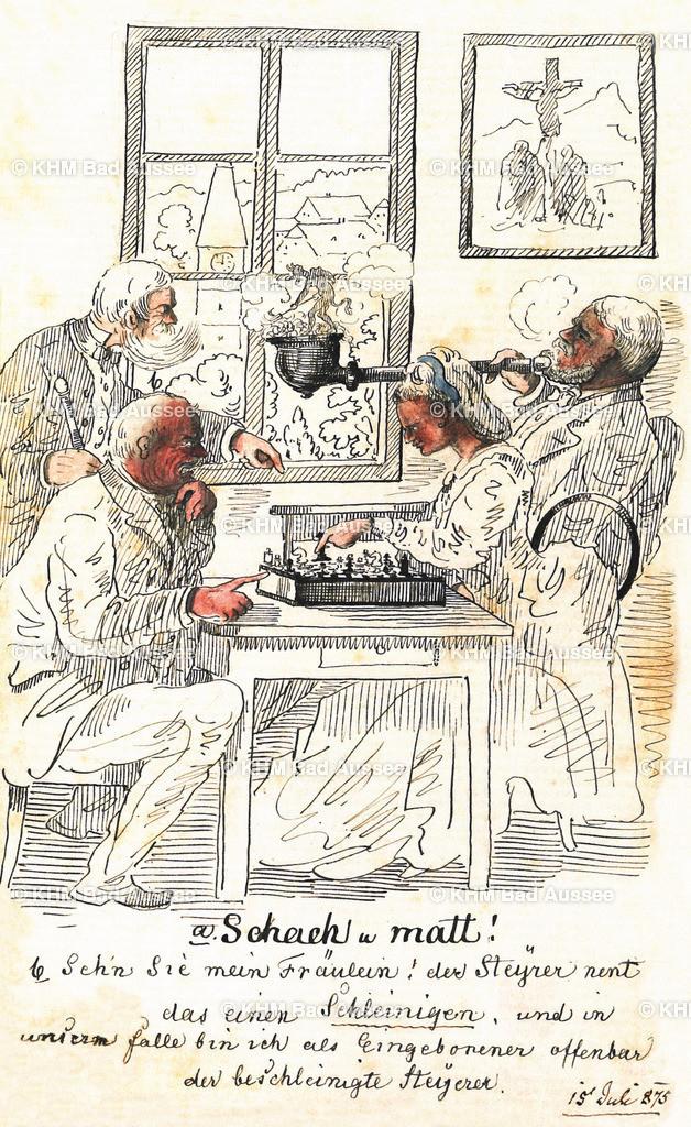 Ritter_B15 | Schachspiel mit Sommerfrischlerin