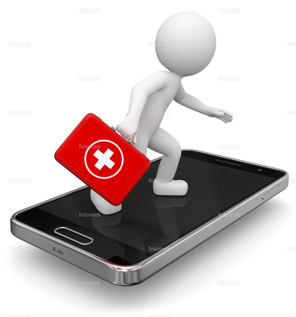 3d Männchen Smartphone Reparaturservice