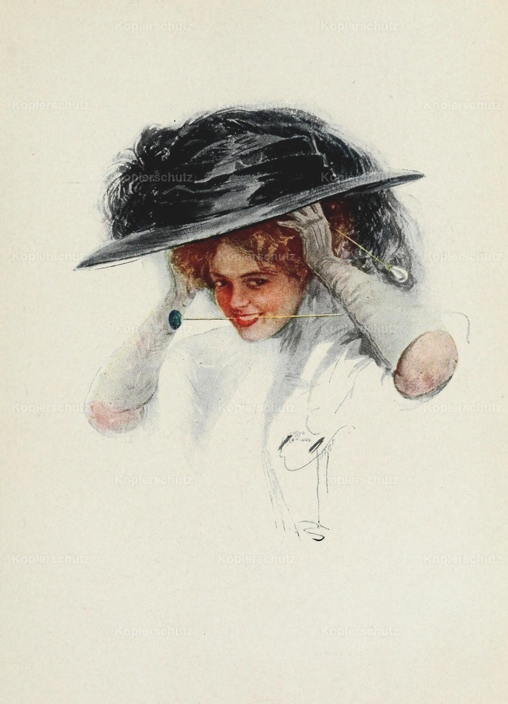Fisher_ Harrison (1875-1934) - American Girls in Miniature 1912 - Hat-pin