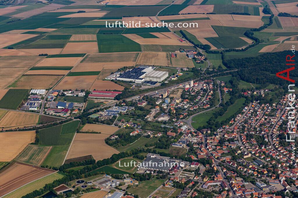uffenheim-19-738 | aktuelles Luftbild von  Uffenheim - Luftaufnahme wurde 2019 von https://frankenair.de mittels Flugzeug (keine Drohne) erstellt.