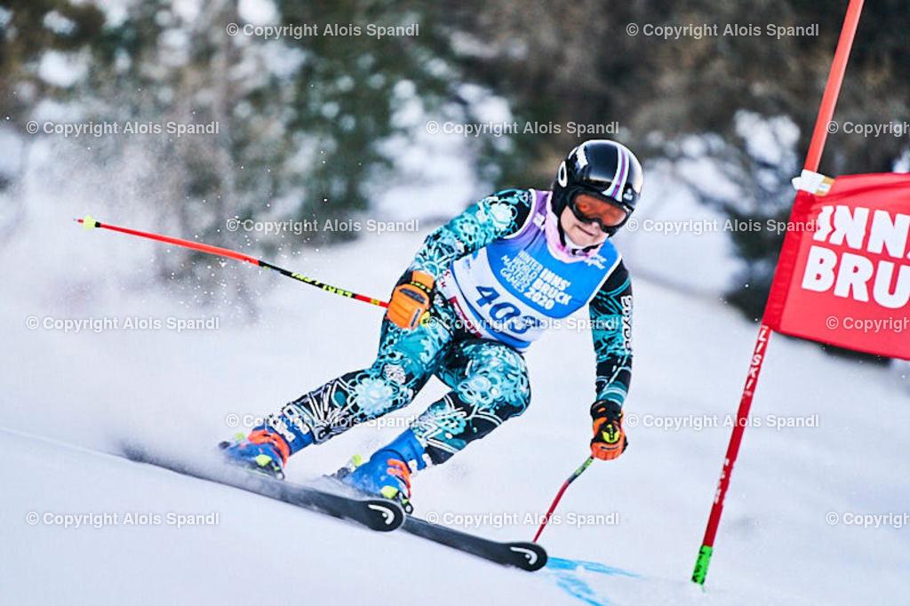 ALS5698_WWMG_GS-II_C   (C) FotoLois.com, Alois Spandl, WinterWorldMastersGames 2020 Innsbruck, Giant Slalom-II Gruppe C Damen, Patscherkofel Olympiaabfahrt, Mi 15. Jänner 2020.