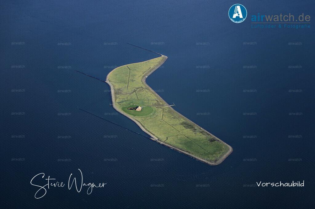 Luftbild Hallig Habel ist mit 6 Hektar die kleinste Hallig im nordfriesischen Wattenmeer. | Nordsee, Hallig Habel, Luftbild, Luftaufnahme, aerophoto, Luftbildfotografie, Luftbilder • max. 6240 x 4160 pix