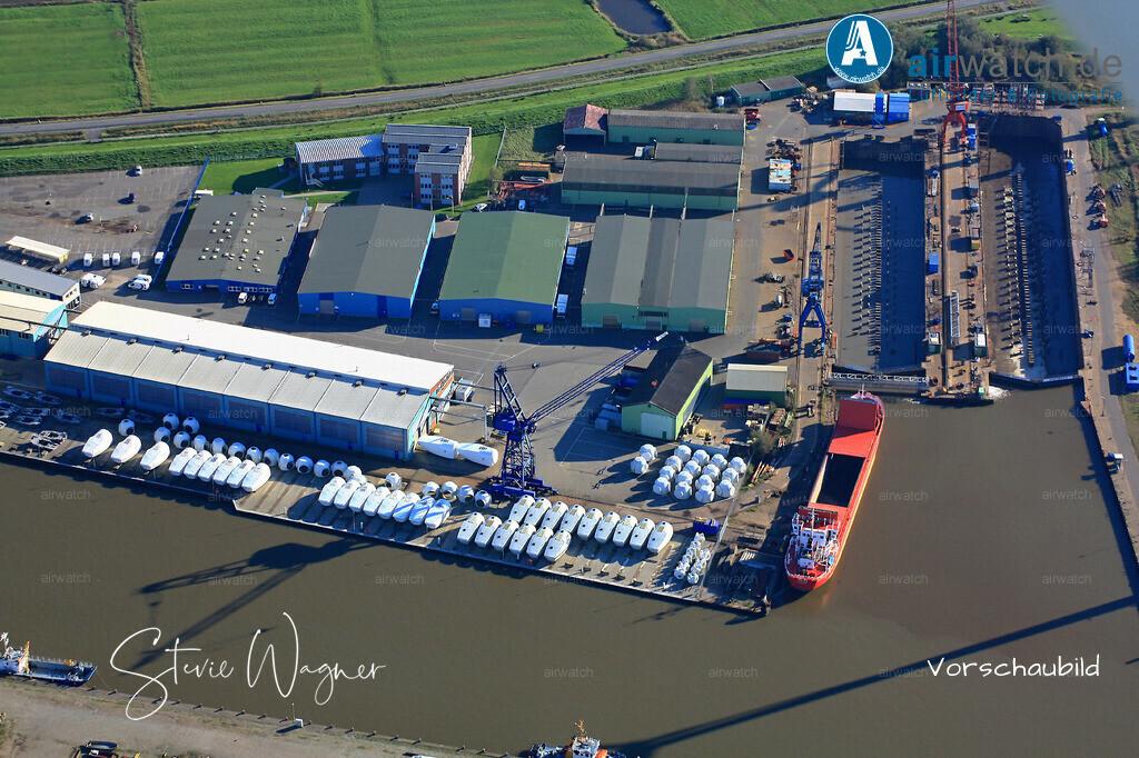 Luftbild Nordsee, Husum, Aussenhafen, Trockendock, Repower, Husum-Dock+Reparatur   Luftbild Nordsee, Husum, Aussenhafen, Trockendock, Repower, Husum-Dock+Reparatur • max. 4272 x 2848 pix.