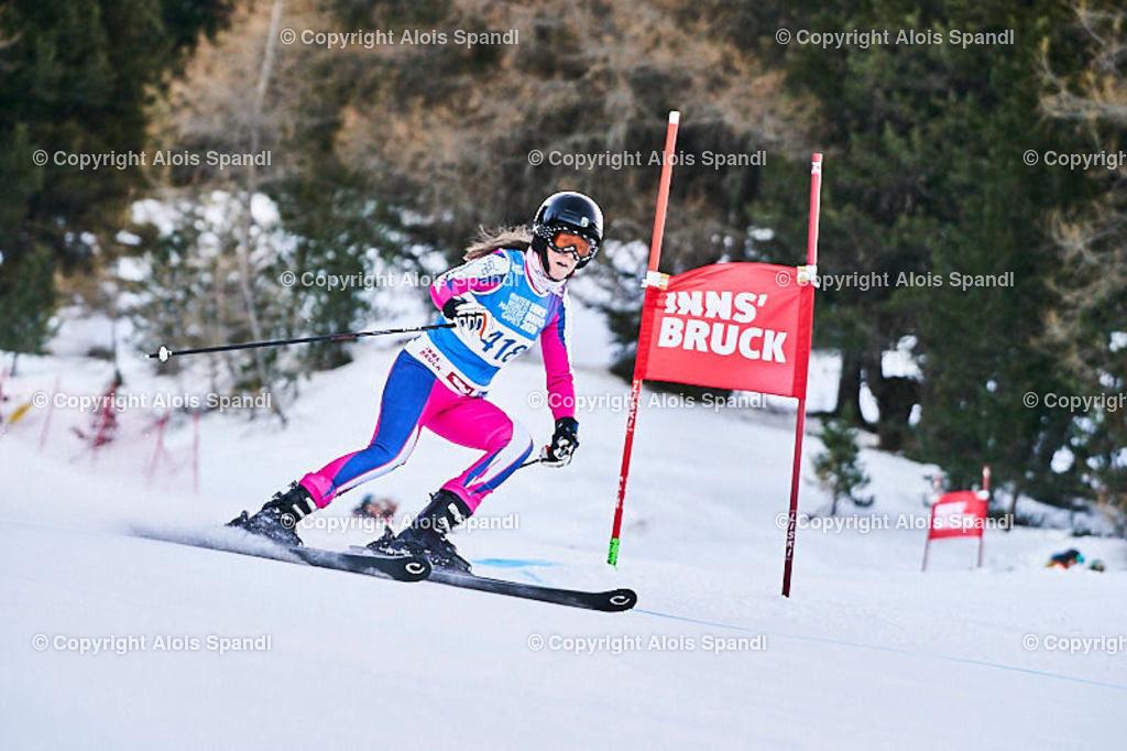 ALS5781_WWMG_GS-II_C | (C) FotoLois.com, Alois Spandl, WinterWorldMastersGames 2020 Innsbruck, Giant Slalom-II Gruppe C Damen, Patscherkofel Olympiaabfahrt, Mi 15. Jänner 2020.