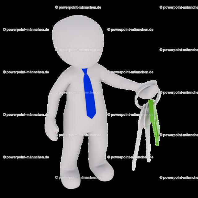 man holding a house key | Quelle: https://3dman.eu   Jetzt 250 Bilder kostenlos sichern