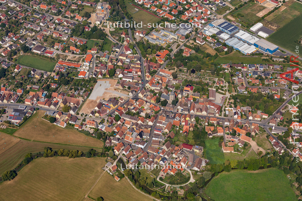 uehlfeld-19-574 | aktuelles Luftbild von Uehlfeld   - Luftaufnahme wurde 2019 von https://frankenair.de mittels Flugzeug (keine Drohne) erstellt.