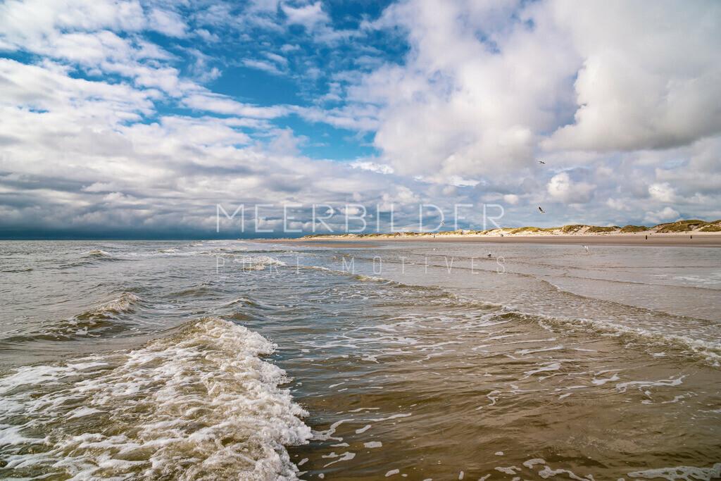 Meer Bilder Nordsee VI | Strandbilder Nordsee: Waterfront als Wandbild auf Alu Dibond, Fotoleinwand oder Acrylglas.