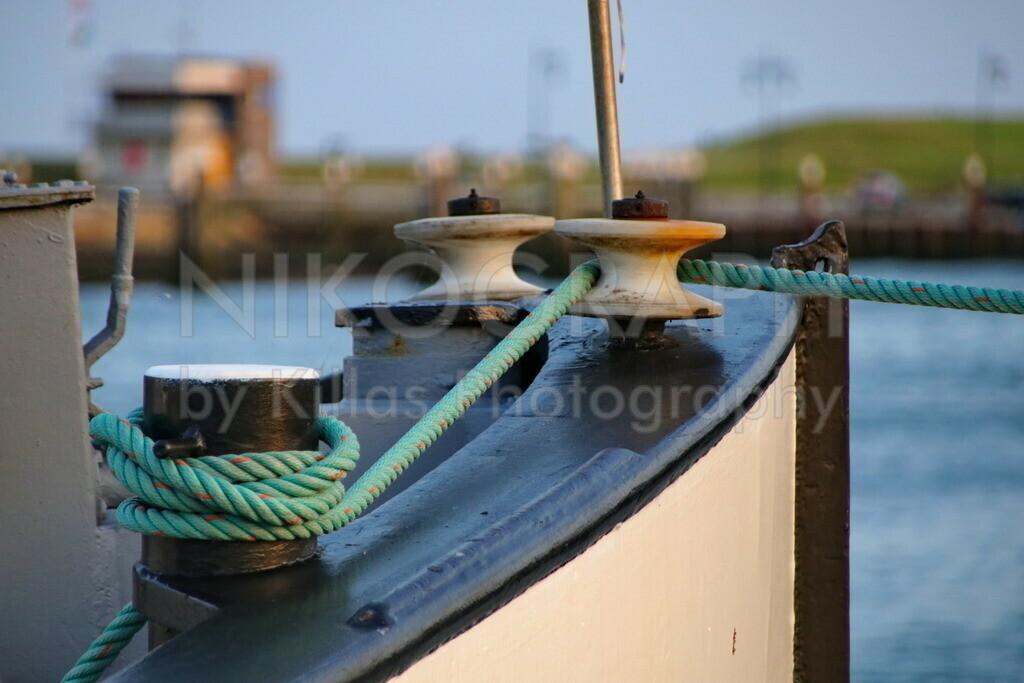 Festmacherleine | Festmacherleine am Hafen von Oudeschild auf der nordseeinsel Texel.