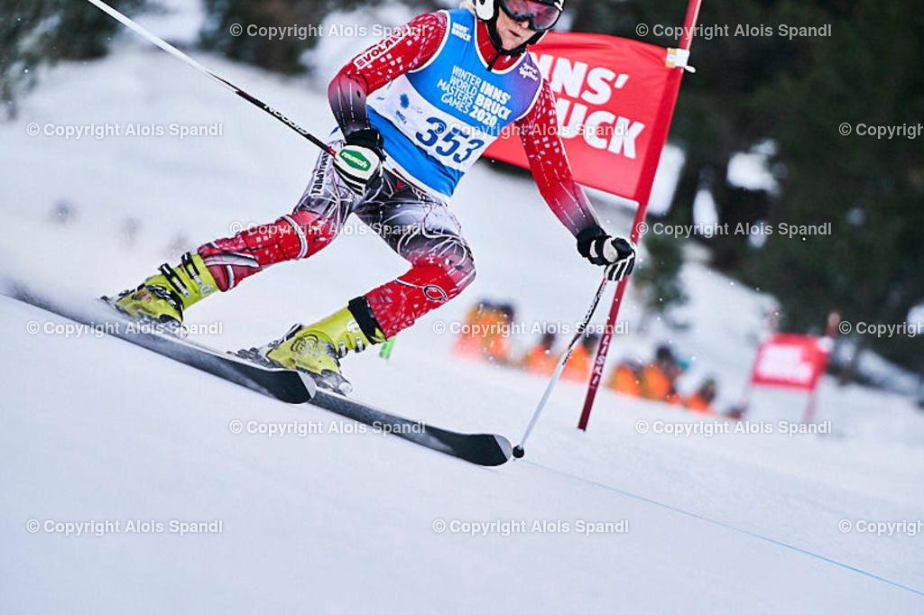 ALS5430_WWMG_GS-II_C | (C) FotoLois.com, Alois Spandl, WinterWorldMastersGames 2020 Innsbruck, Giant Slalom-II Gruppe C Damen, Patscherkofel Olympiaabfahrt, Mi 15. Jänner 2020.