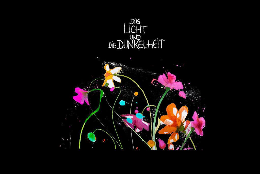 Blumen-Motiv-6-Licht und Dunkelheit | Projektionsmotive der Kunstevents