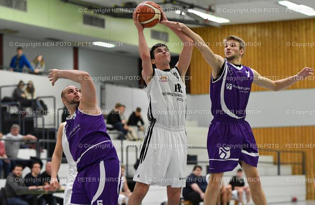 20191130 Basketball Oberliga Herren SKG Rossdorf - BC Gelnhausen copyright by HEN-FOTO   20191130 Basketball Oberliga Männer SKG Rossdorf - BC Gelnhausen li 5 (G) Mi 14 Tim Kreisel (R) re 7 Griffin Bauer (70:84) copyright by HEN-FOTO Foto: Peter Henrich
