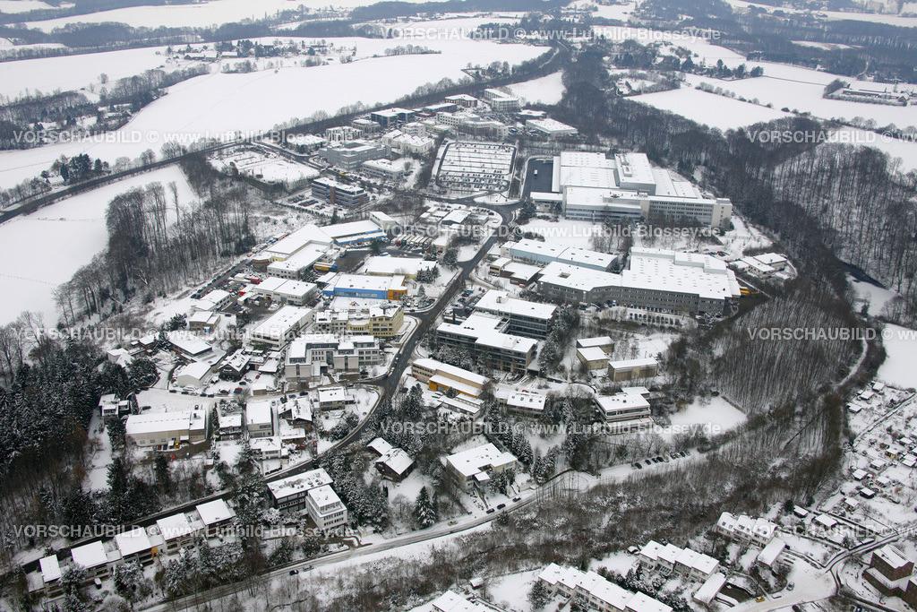 KT10011066 | Schnee,  Kettwig, Essen, Ruhrgebiet, Nordrhein-Westfalen, Deutschland, Europa, Foto: Luftbild Hans Blossey, Copyright: hans@blossey.eu, 06.01.2010, E 006° 56' 43.20