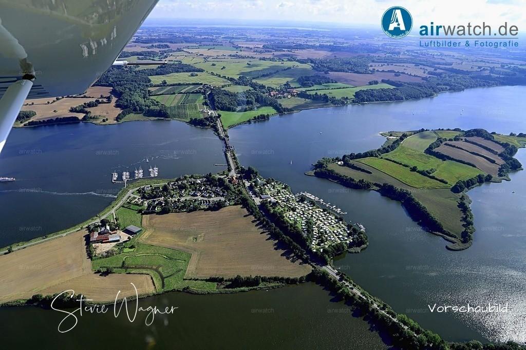 Luftbild Schleibruecke Lindaunis, Klappbrücke verbindet Schwansen und Angeln | Luftbild Schleibruecke Lindaunis, Klappbrücke verbindet Schwansen und Angeln • max. 6240 x 4160 pix