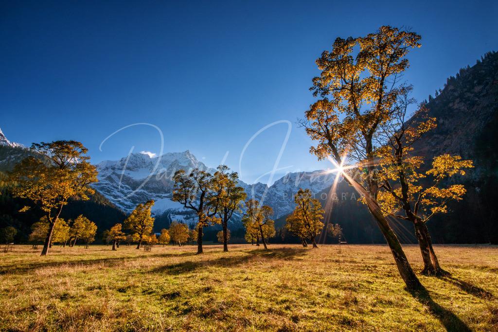 Großer Ahornboden | Sonnenuntergang am großen Ahornboden