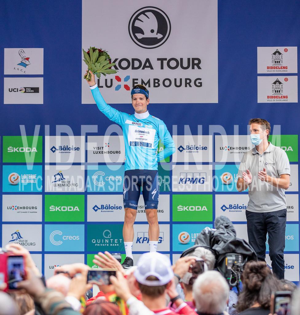81st Skoda-Tour de Luxembourg 2021   81st Skoda-Tour de Luxembourg 2021, Stage 4 ITT Dudelange - Dudelange; Dudelange, 17.09.2021: ALMEIDA João (Deceuninck - Quick Step, 31), GC / Youth / Points classification leader
