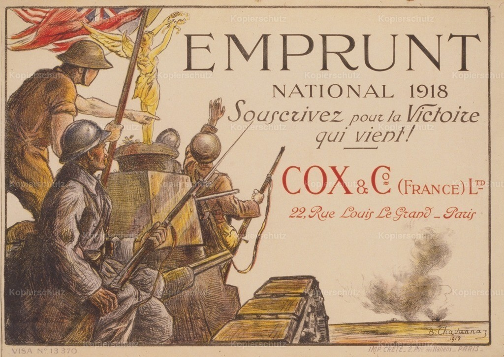 Chavannaz_ B. (d.1930) - Poster 1918 - Emprunt National