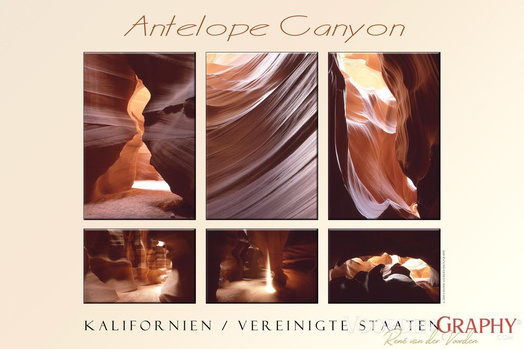 Antelope Canyon Collage / Kalifornien USA