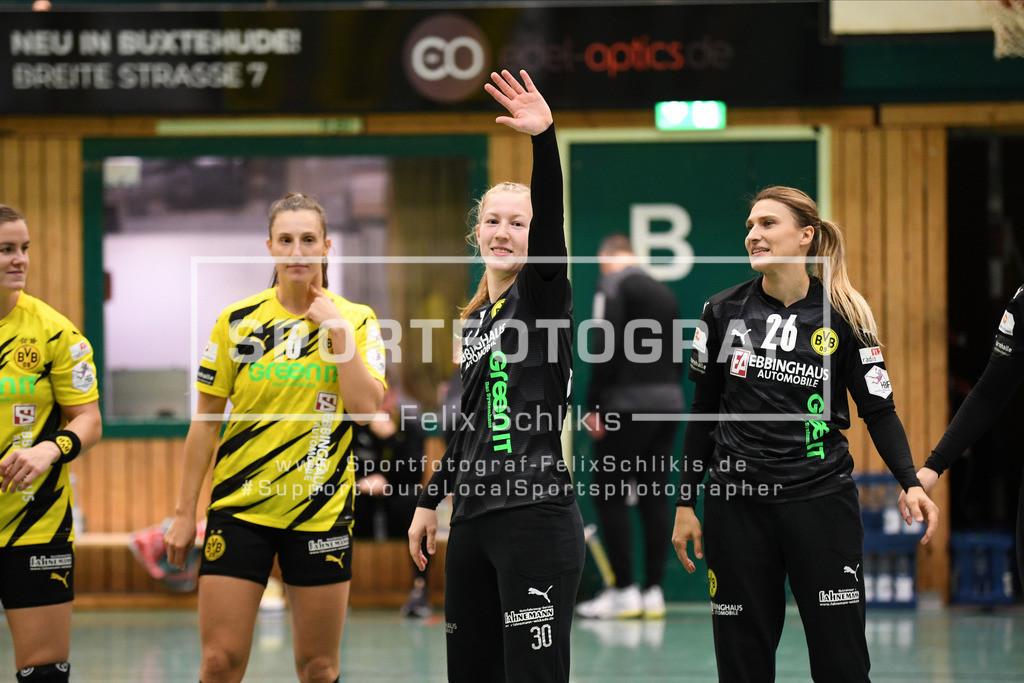 DHB-Pokal Achtelfinale Frauen I Buxtehuder SV - Borussia Dortmund  I 04.11.2020_00004 | ; DHB-Pokal Achtelfinale Frauen I Buxtehuder SV - Borussia Dortmund  am 04.11.2020 in Buxtehude  (Hoelle Nord - Kurt-Schuhmacher Strasse), Deutschland
