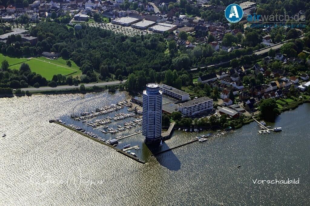 Luftbild Schleswig, Schlei, Wikingturm, Segel-Club | Luftbild Schleswig, Schlei, Wikingturm, Segel-Club • max. 6240 x 4160 pix