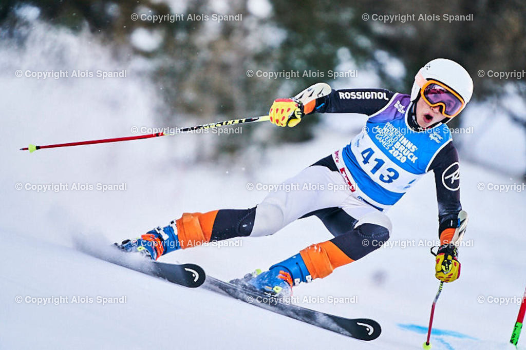 ALS5763_WWMG_GS-II_C | (C) FotoLois.com, Alois Spandl, WinterWorldMastersGames 2020 Innsbruck, Giant Slalom-II Gruppe C Damen, Patscherkofel Olympiaabfahrt, Mi 15. Jänner 2020.