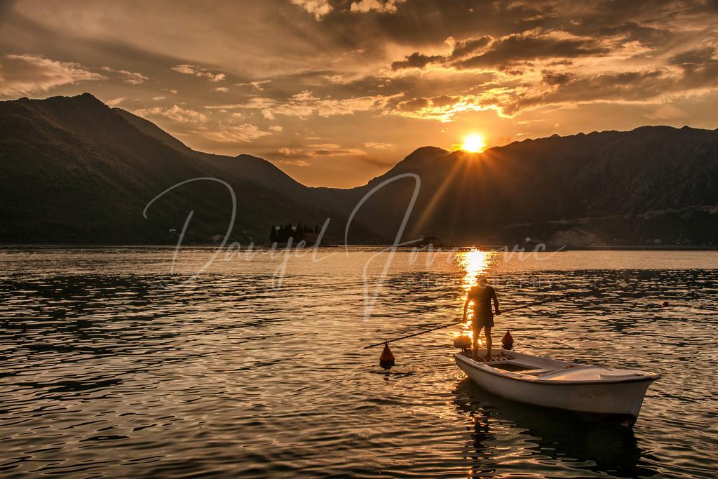 Sonnenuntergang | Sonnenuntergang in der Boka Kotorska