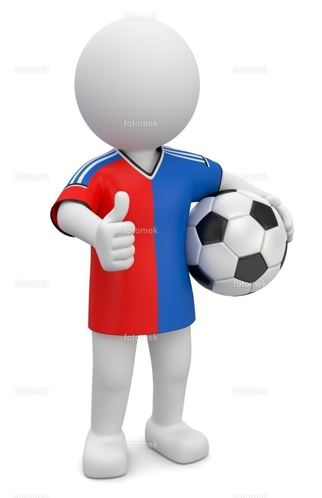 3d Männchen Fußballer